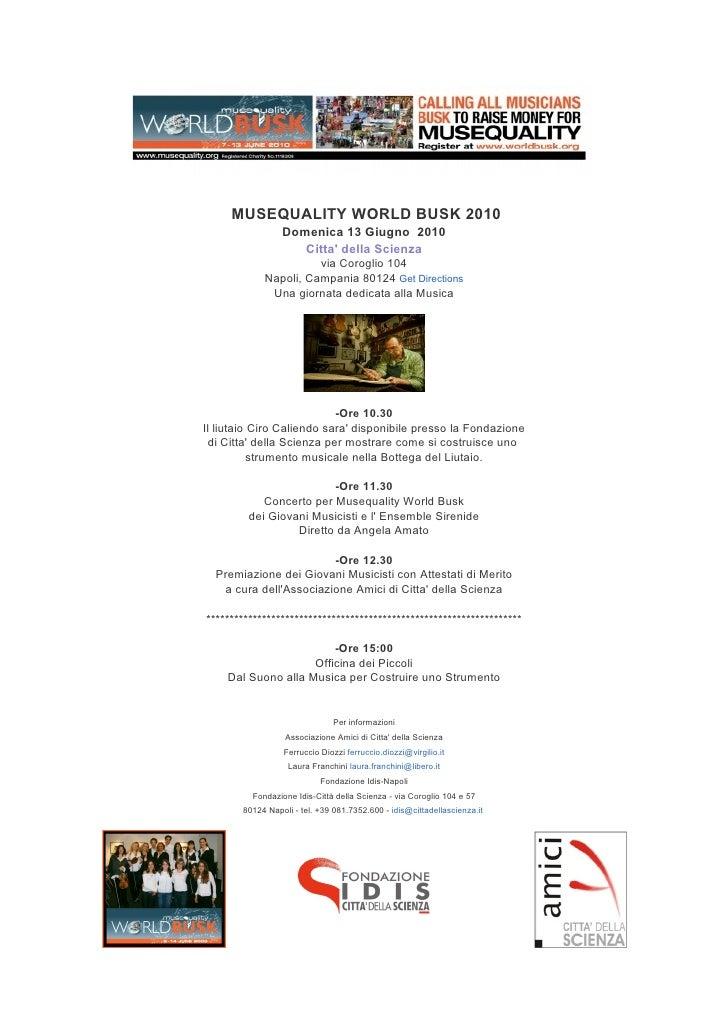 Musequality World busk 2010 13 giugno