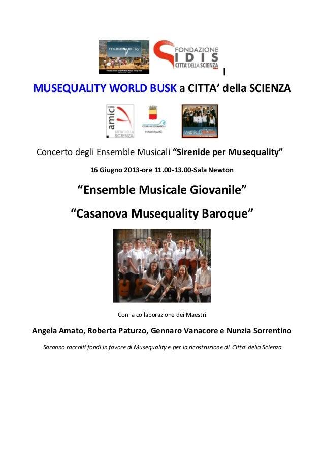 Musequality World Busk 2013