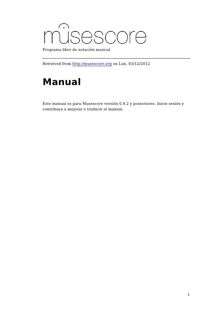 Manual MuseScore en español