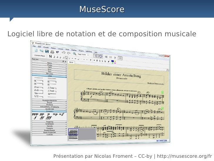 Presentation de MuseScore, logiciel libre d'édition de partitions musicales