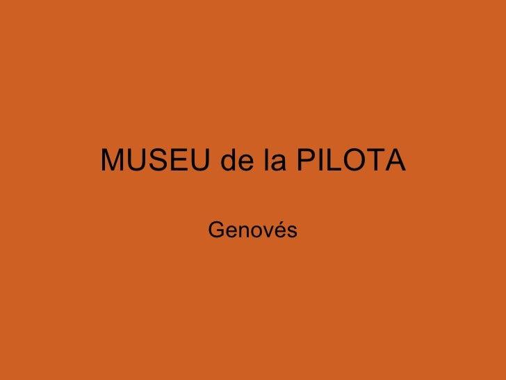 MUSEU de la PILOTA Genovés