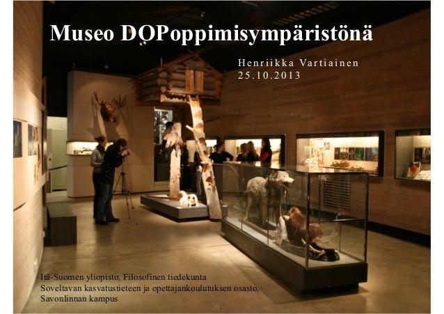 Museo DOPoppimisympäristönä