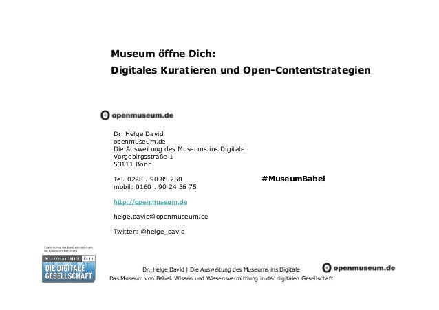 Museum öffne Dich: Digitales Kuratieren und Open-Contentstrategien