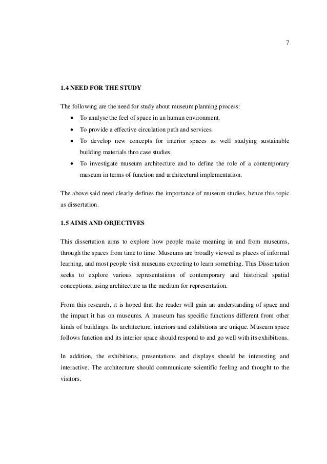 Desk based study dissertation