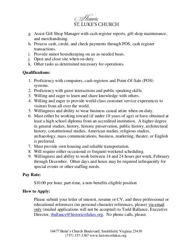 Resume For A Museum Job 2.