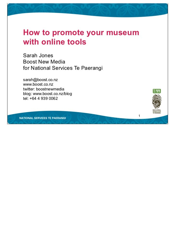 Museums Online NSTP Presentation