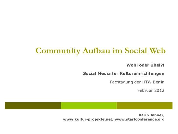 Museumstagung Wohl oder Übel - Social Media im Kulturmanagement