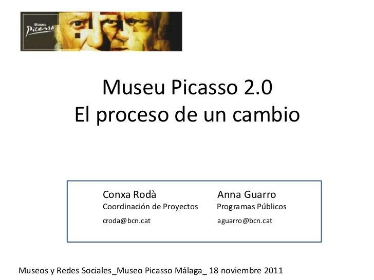Museu Picasso 2.0             El proceso de un cambio                    Conxa Rodà                  Anna Guarro          ...