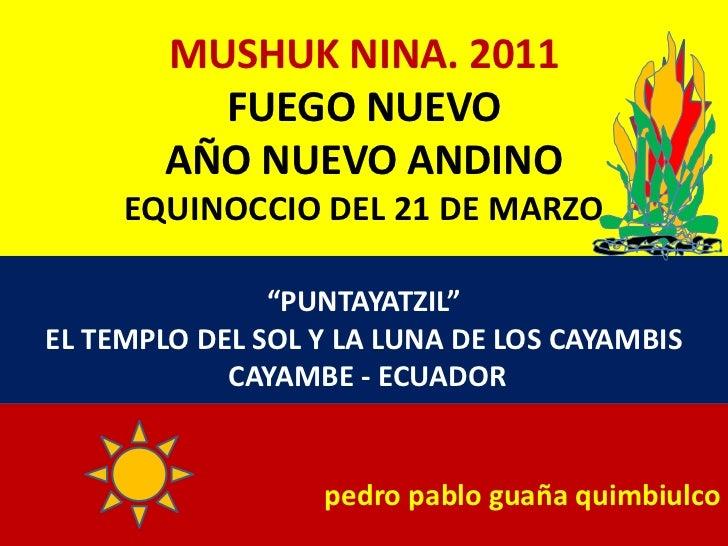 Mushuk Nina 2011. CAYAMBE.PABLO GUAÑA