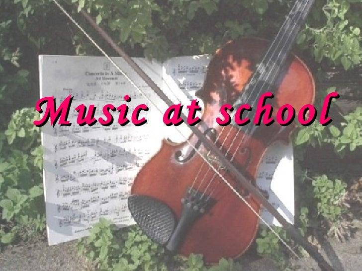 Music at school