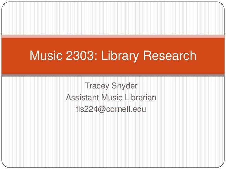 Music 2303