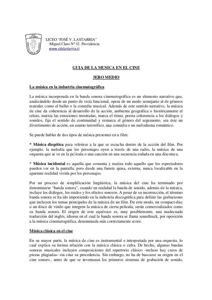 """LICEO """"JOSÉ V. LASTARRIA""""           Miguel Claro Nº 32. Providencia           www.cdslastarria.cl                         ..."""