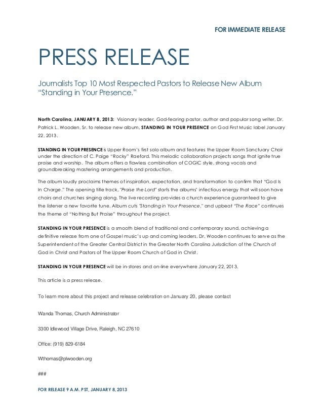 Buy press release example