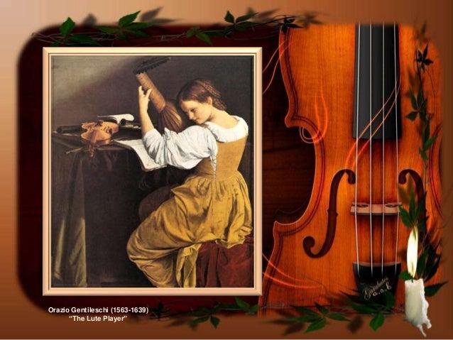"""Orazio Gentileschi (1563-1639)""""The Lute Player"""""""