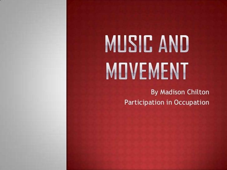 Music and movement slideshow