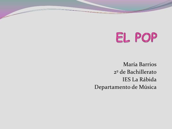 María Barrios        2º de Bachillerato            IES La Rábida Departamento de Música