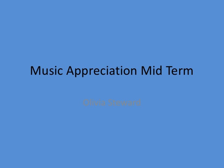 Music appreciation study