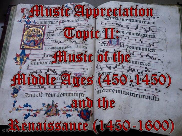 Music Appreciation Fine Arts