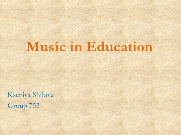 Music In Education