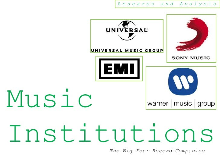 Research     and   AnalysisMusicInstitutions     The Big Four Record Companies