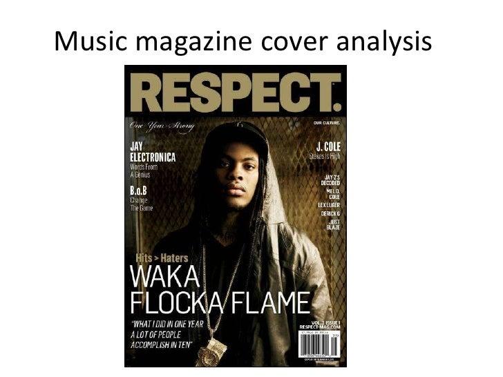 Music magazine cover analysis, ~