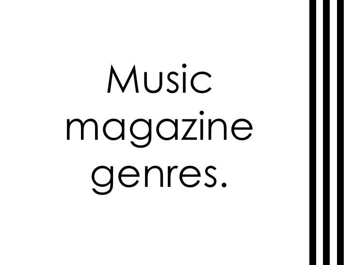 Music magazine genres.