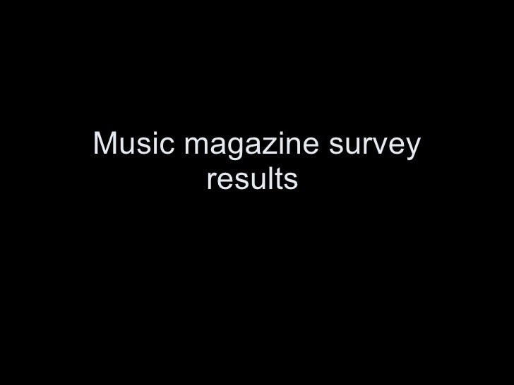 Music magazine survey results
