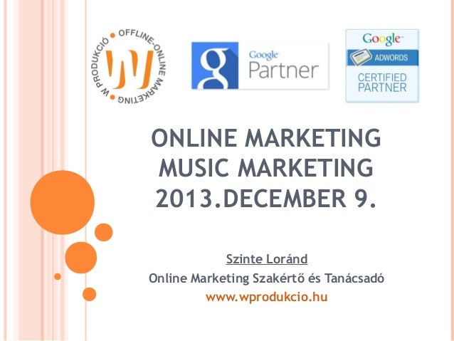 Youtube  - Music online marketing 2013.12.09 Zeneipari Hivatal