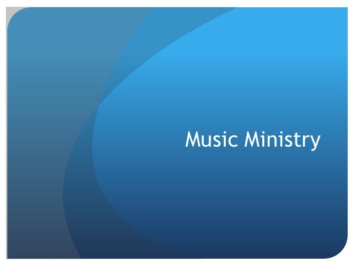 Music Ministry<br />