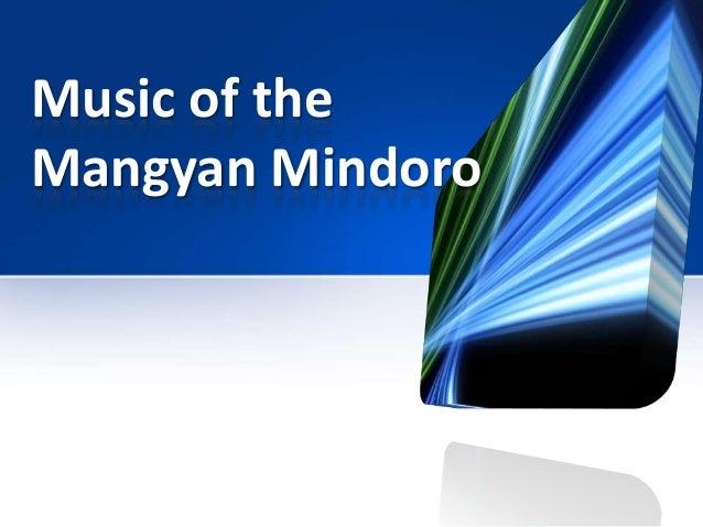 Music of theMangyan Mindoro