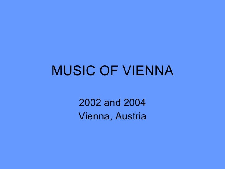 Music Of Vienna