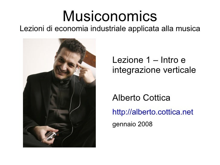 Musiconomics - Integrazione verticale