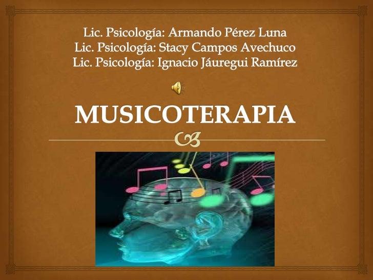 Musicoterapia (elaboracion de material didactico)
