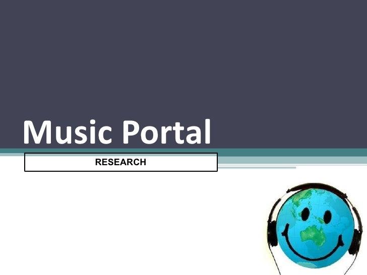 Music Portal Plan | Aug 19th, 2009