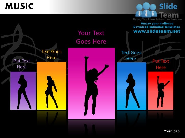 MUSIC                                Your Text                                Goes Here                    Text Goes      ...