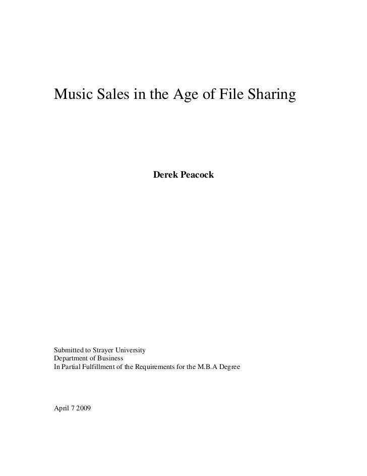 <br /> <br /> <br /> <br />Music Sales in the Age of File Sharing <br /> <br /> <br /> <br /> <br /> <br /> <br /> <br />...