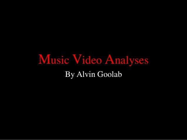 Music video analyses