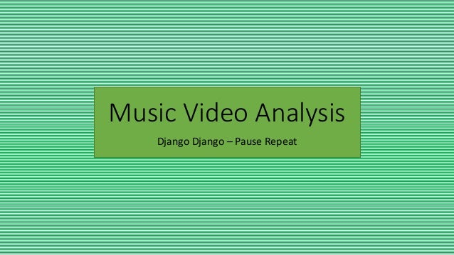 music video ananysis After taking a close look at popular music videos and the way women are represented, a clear answer to the research question presented above is found: m.