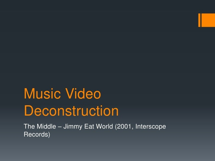 Music VideoDeconstructionThe Middle – Jimmy Eat World (2001, InterscopeRecords)