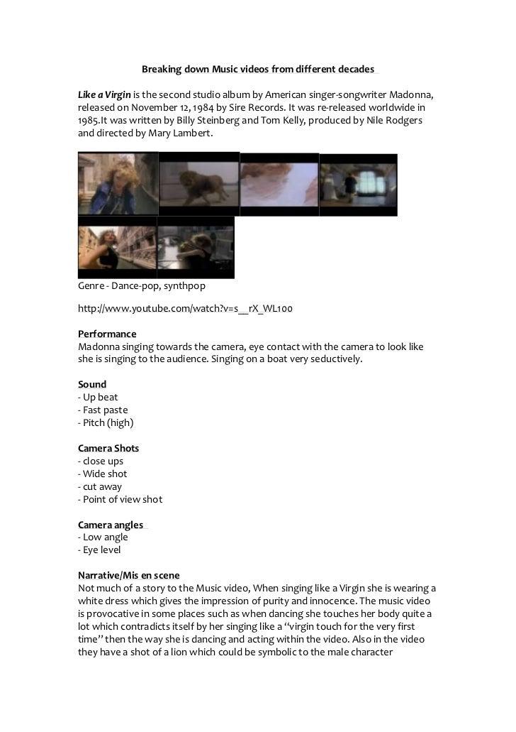 Music videos. of single artists