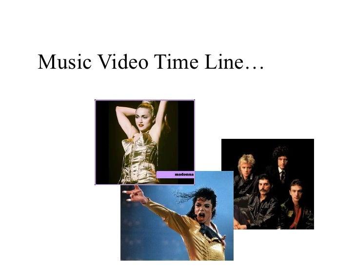 Music video timeline