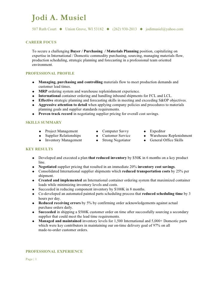 resume objective buyer resume samples our collection of free ...