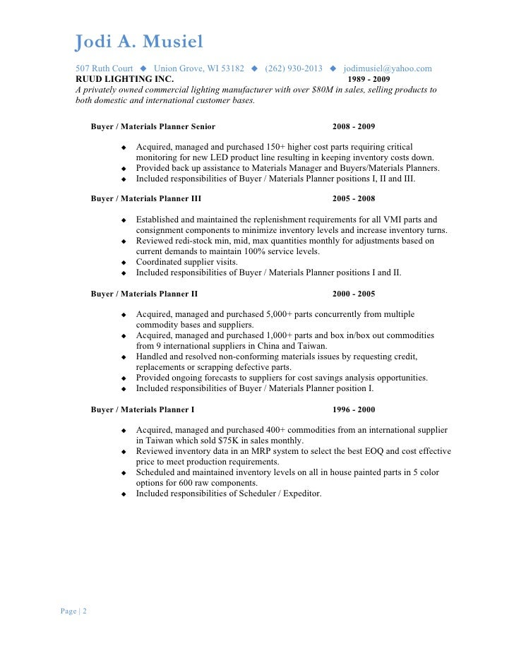 International buyer resume