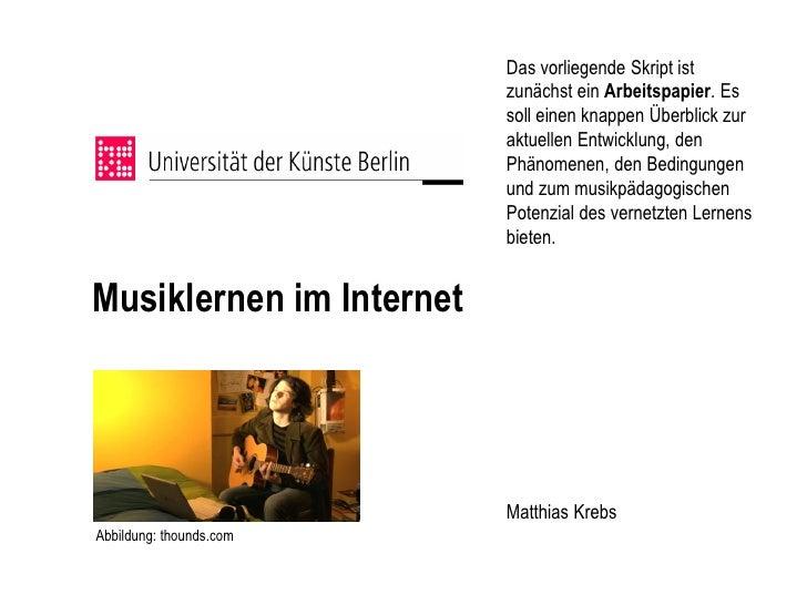 Musiklernen im Internet