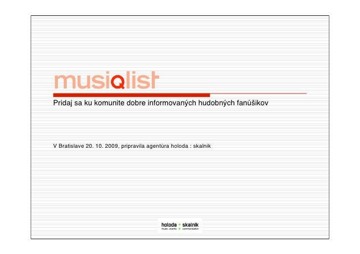 MusiQList General Presentation in Sk