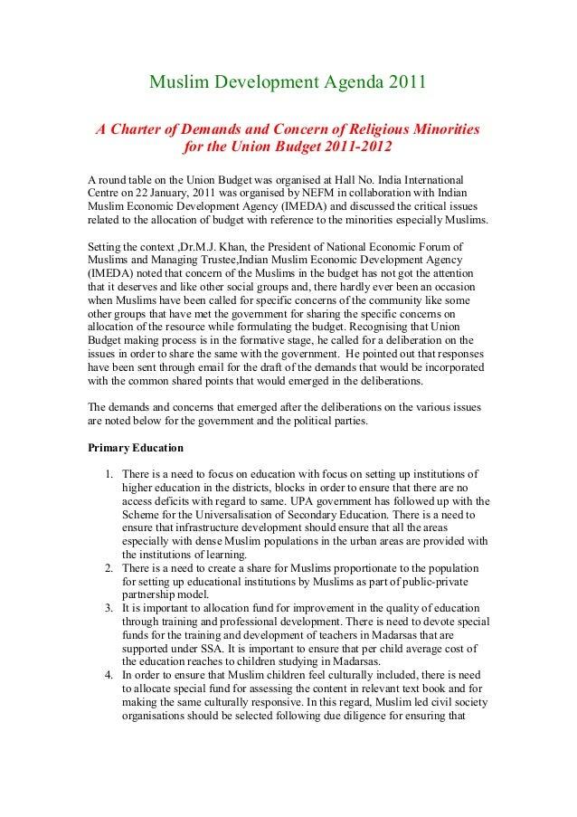 Muslim Development Agenda