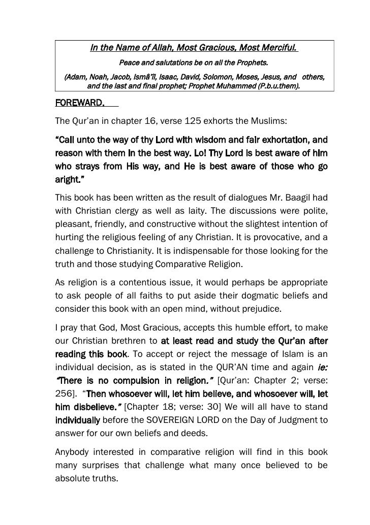 Muslim Christian  Dialogue   Corrected Book January 2006