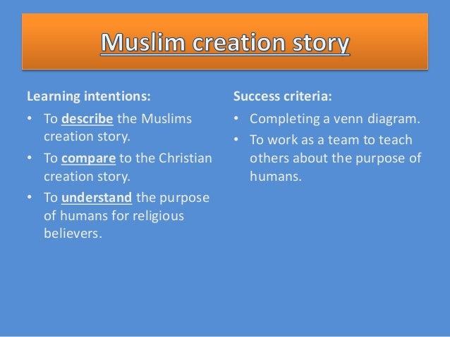 Muslim And Christian Creation Story on Describe A Venn Diagram