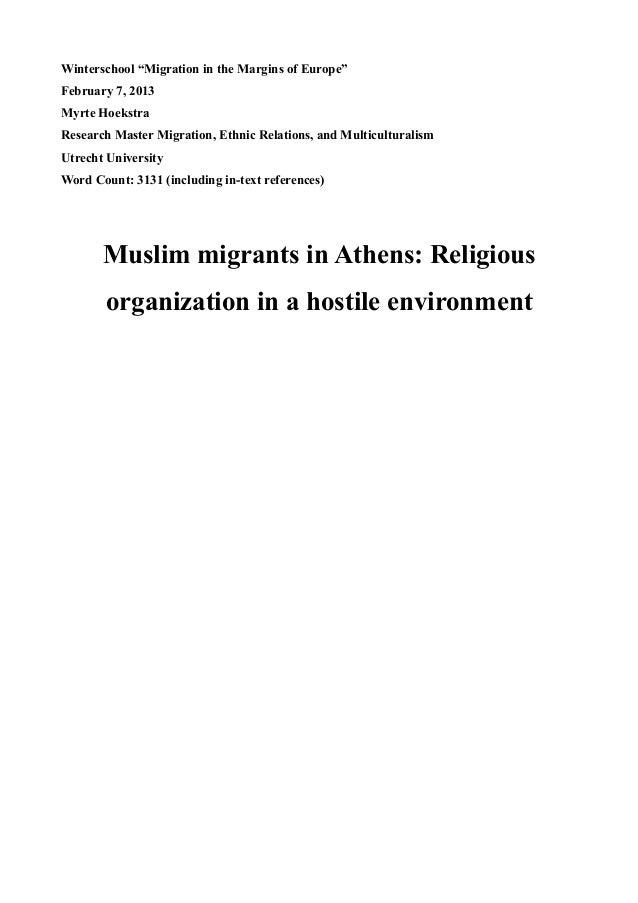 Muslim migrants in athens religious