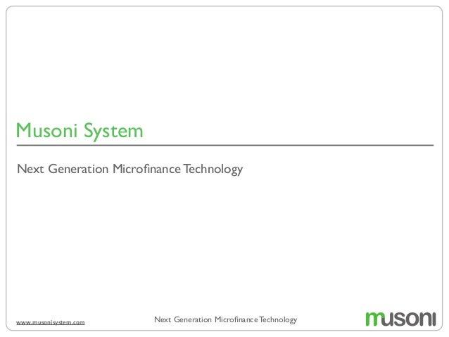 Musoni System